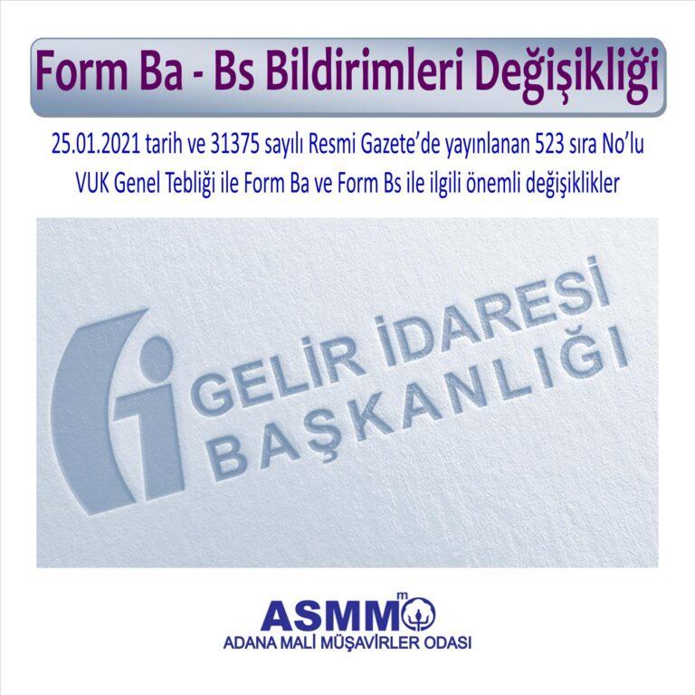 Form Ba-Bs Bildirimleri nasıl olacak?