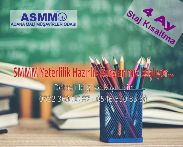 SMMM Yeterlilik Sınavlarına yönelik kurslarımız başlıyor…